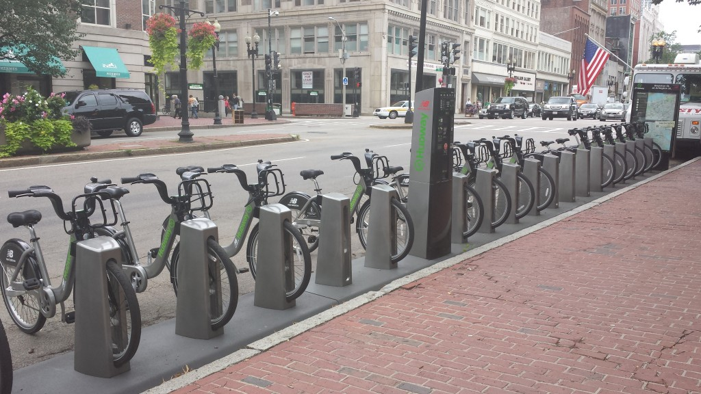 Boston's bikeshare program, Hubway. Photo by the author.