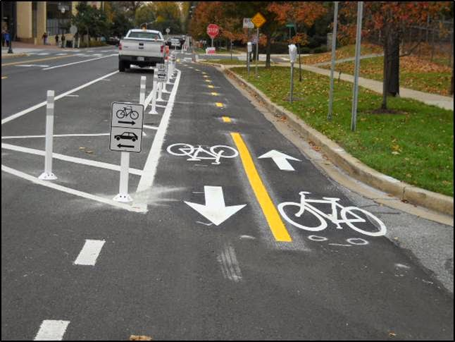 Woodglen bike lane