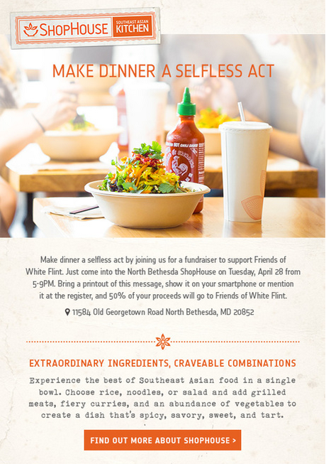 Raise funds at ShopHouse