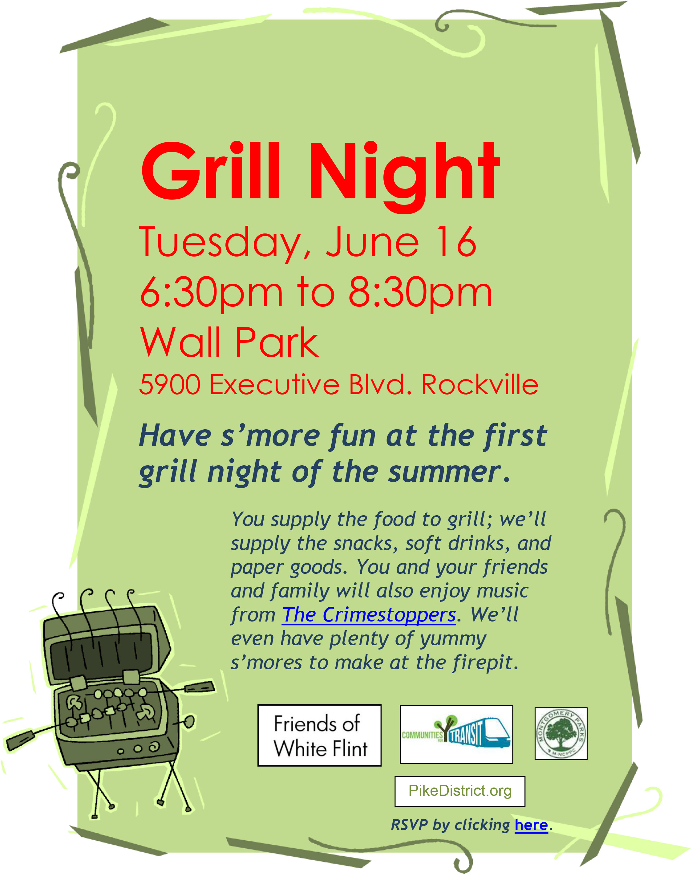 Grill Night Wall Park