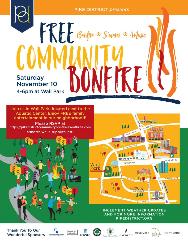 Community Bonfire and S'mores at Wall Park November 10th, 4 to 6 pm